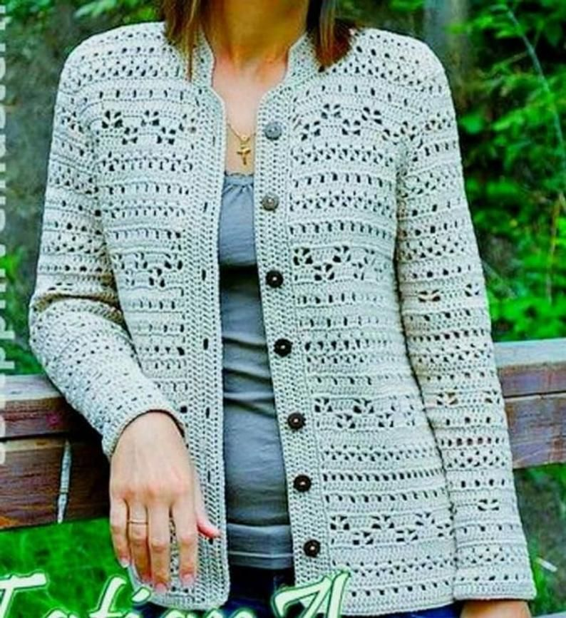 Ladies cardigans crochet cardigan / order
