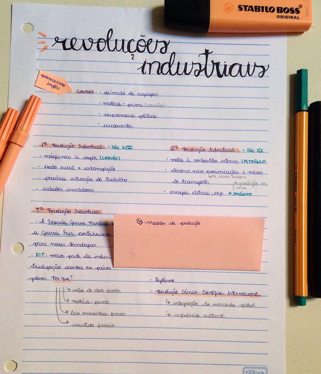 Revolucoes Industriais Studygram Study Resumo
