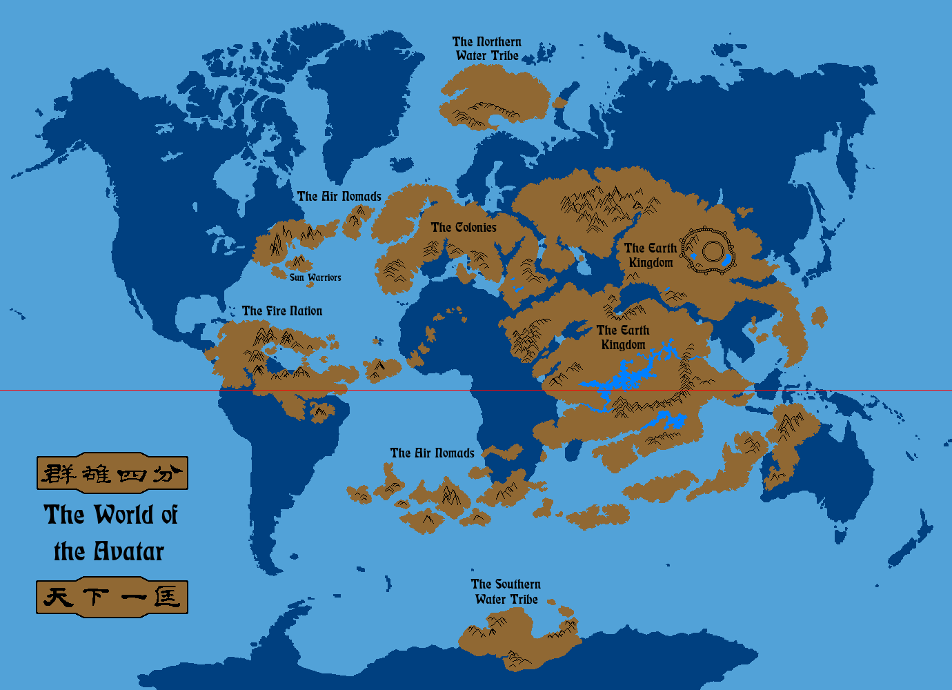 The World of the Avatar Overlay by on DeviantArt M