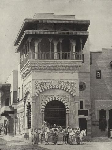 'Donkey Boys in the Street of Cairo' Photographic Print - | Art.com