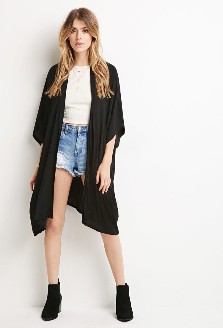 Textured Dolman Cardigan | Forever 21 - 2000167078