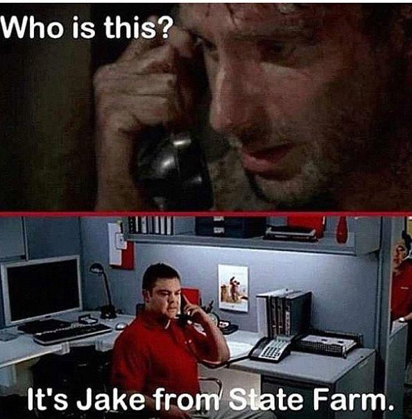 Rick On The Phone The Walking Dead Walking Dead Funny Walking Dead Memes