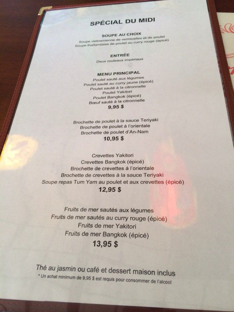 Table d'hote menu- great value and huge portion size for lunch ...