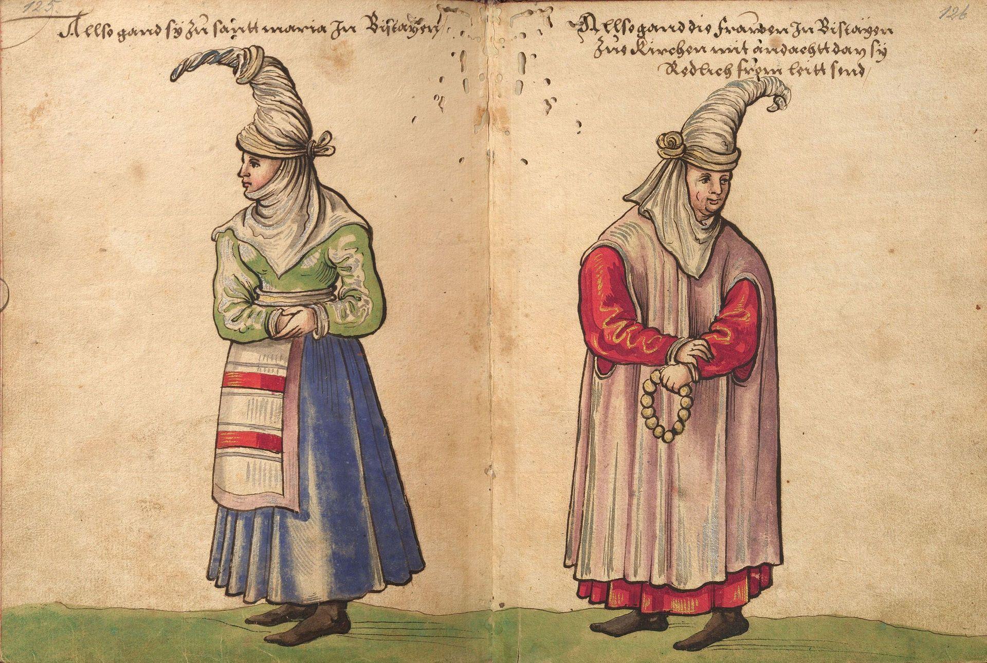 Weiditz Trachtenbuch 125-126 - Trachtenbuch des Christoph Weiditz - Wikimedia Commons