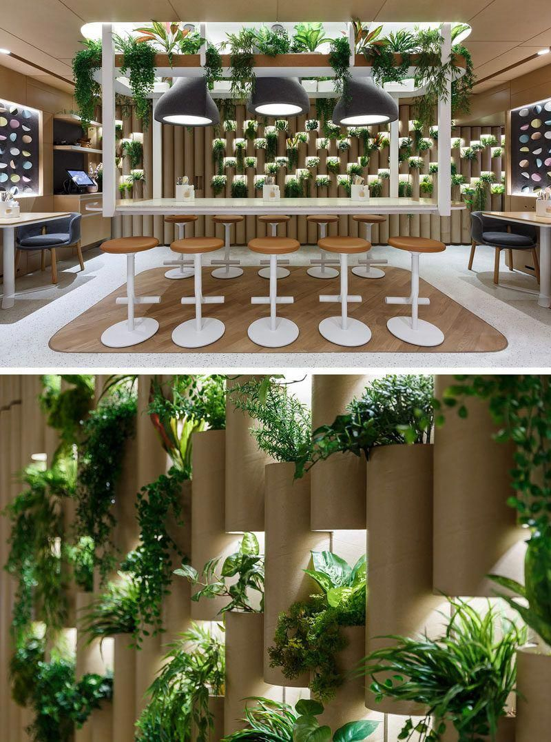 The Cardboard Bamboo Walls In This Modern Restaurant Have