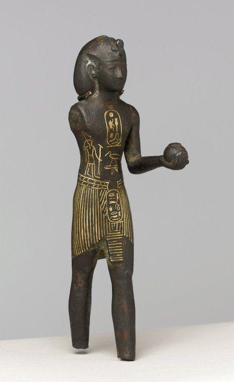 King Osorkon I-Medium: Bronze, gold Place Found: Shibin el Qanatir, Egypt Dates: ca. 924-889 B.C.E. Dynasty: XXII Dynasty Period: Third Intermediate Period | Brooklyn Museum