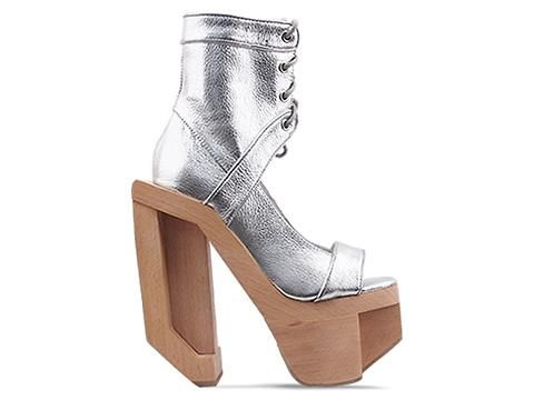 Jeffrey Campbell Futura In Silver Bacall S Grey World