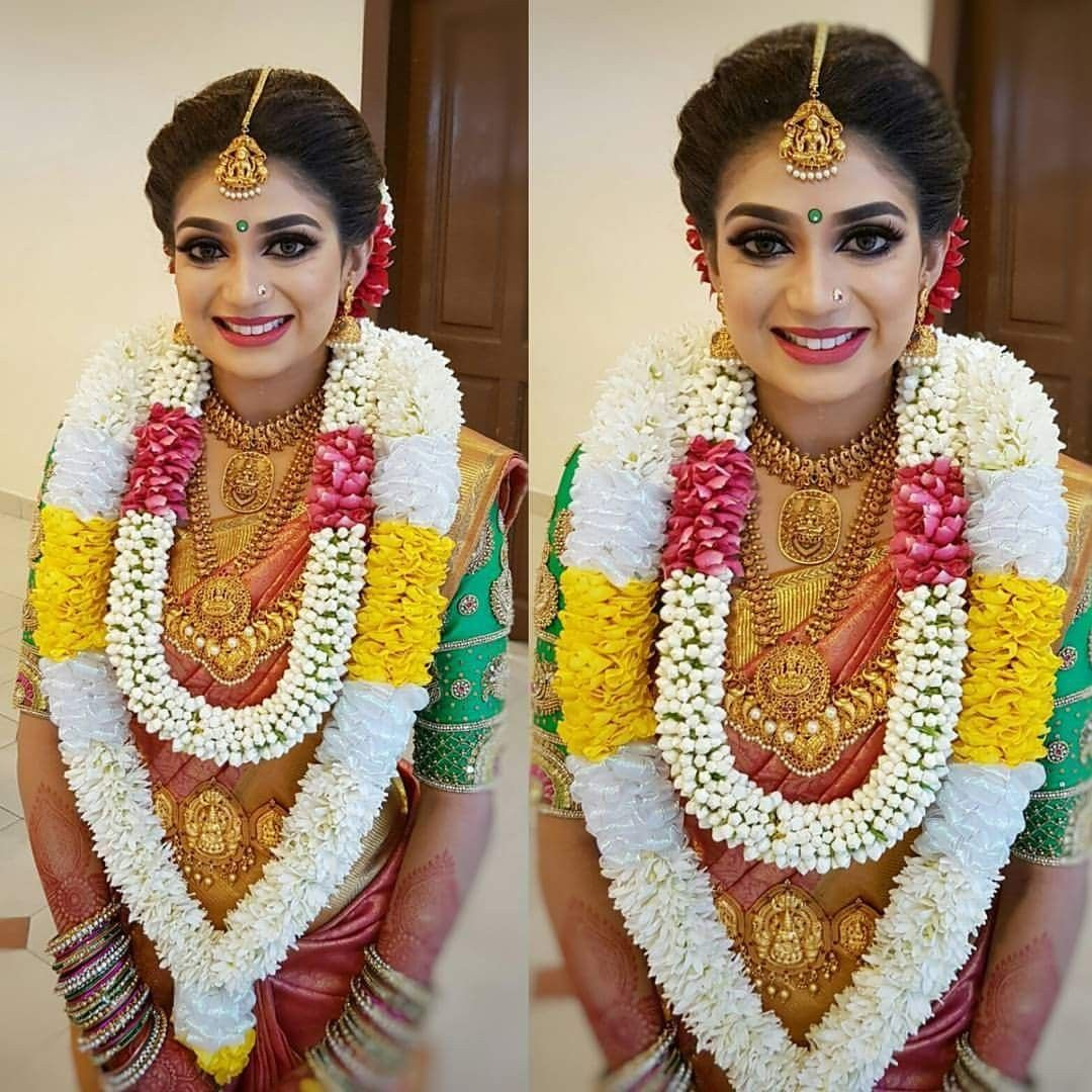 Tamil Bride For More You Can Follow On Insta Love Ushi Or Pinterest Indian Bridal Hairstyles South Indian Bride Hairstyle South Indian Wedding Hairstyles