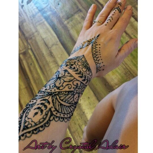 Traditional Indian Inspired Jagua Art Done At Island Status Boutique
