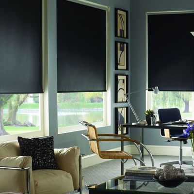 Signature Blackout Roller Shades Blinds Com Home Decor Living Room Blinds Curtains With Blinds