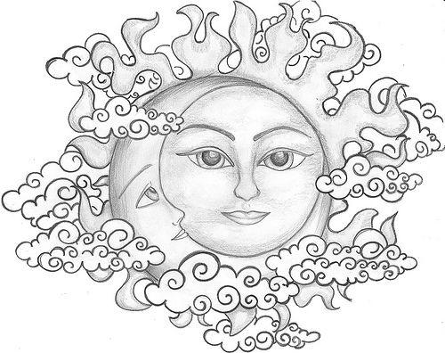 pinturas sol e lua místico - Pesquisa Google   mistico   Pinterest ...