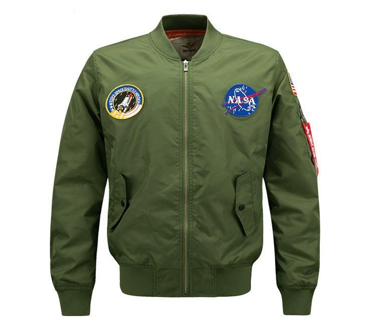Product Name:NASA Patched Bomber Jacket, Category