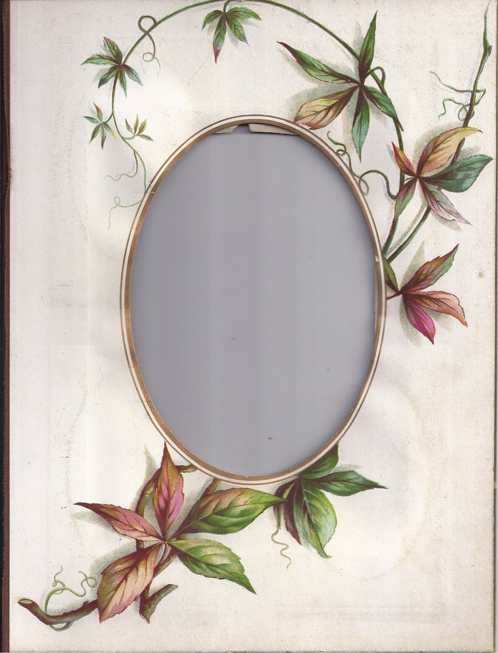 Lovely Floral Chromolithograph Page from Victorian Photo Album ...