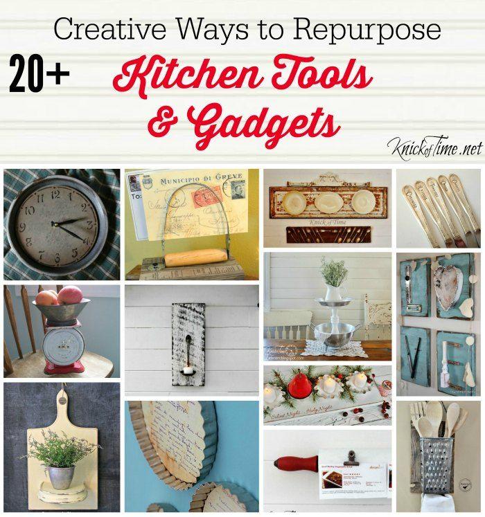 Repurposed Kitchen Tools via KnickofTime.net   Kreativ, Rustikal und ...