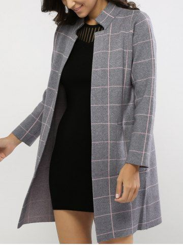 GET $50 NOW   Join RoseGal: Get YOUR $50 NOW!http://m.rosegal.com/coats/stand-collar-plaid-pocket-design-658074.html?seid=6366792rg658074