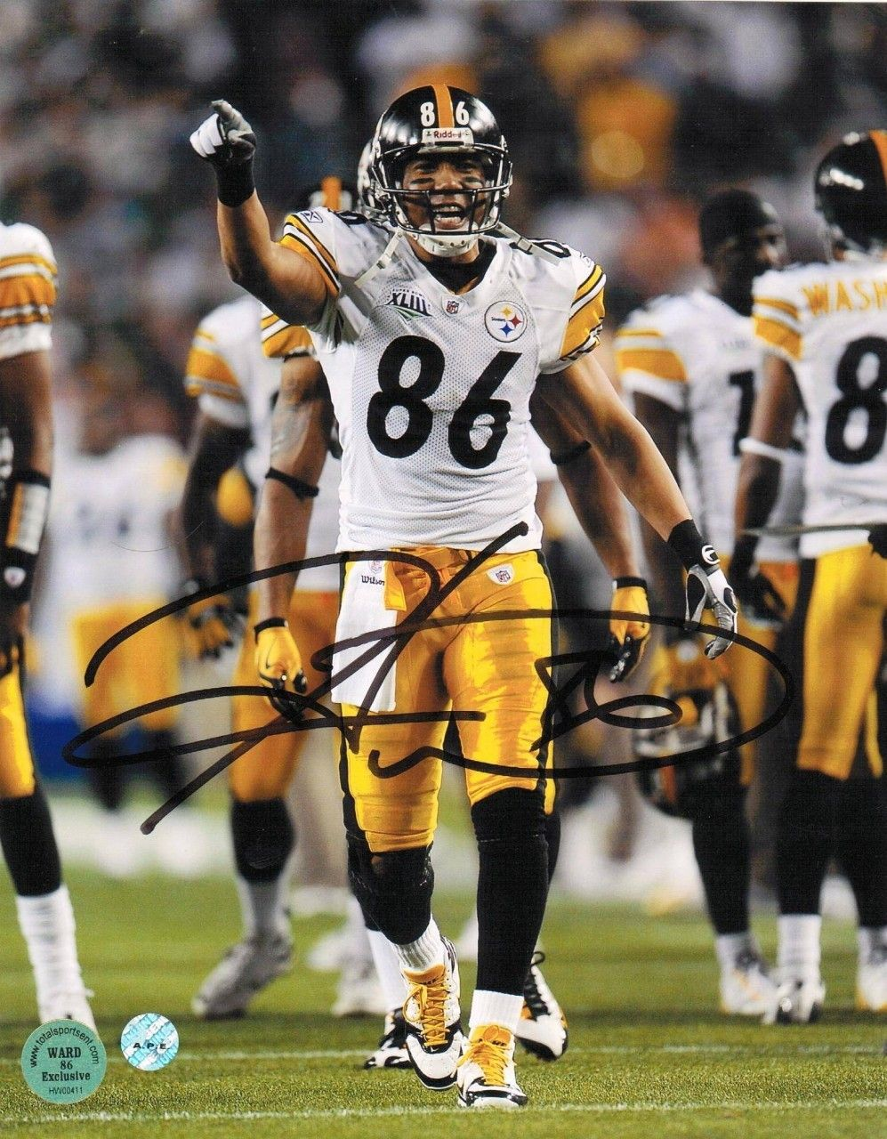 af23567a379 AAA Sports Memorabilia LLC - Hines Ward Pittsburgh Steelers Autographed  8x10 Photo -Pointing-