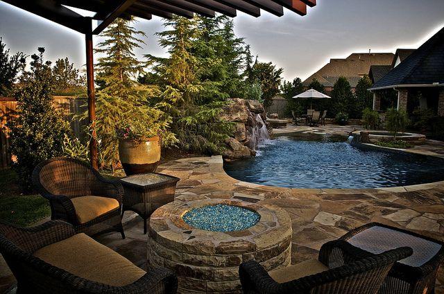 Rose Creek Estate Pool Patio Small Backyard Pools Pool Waterfall