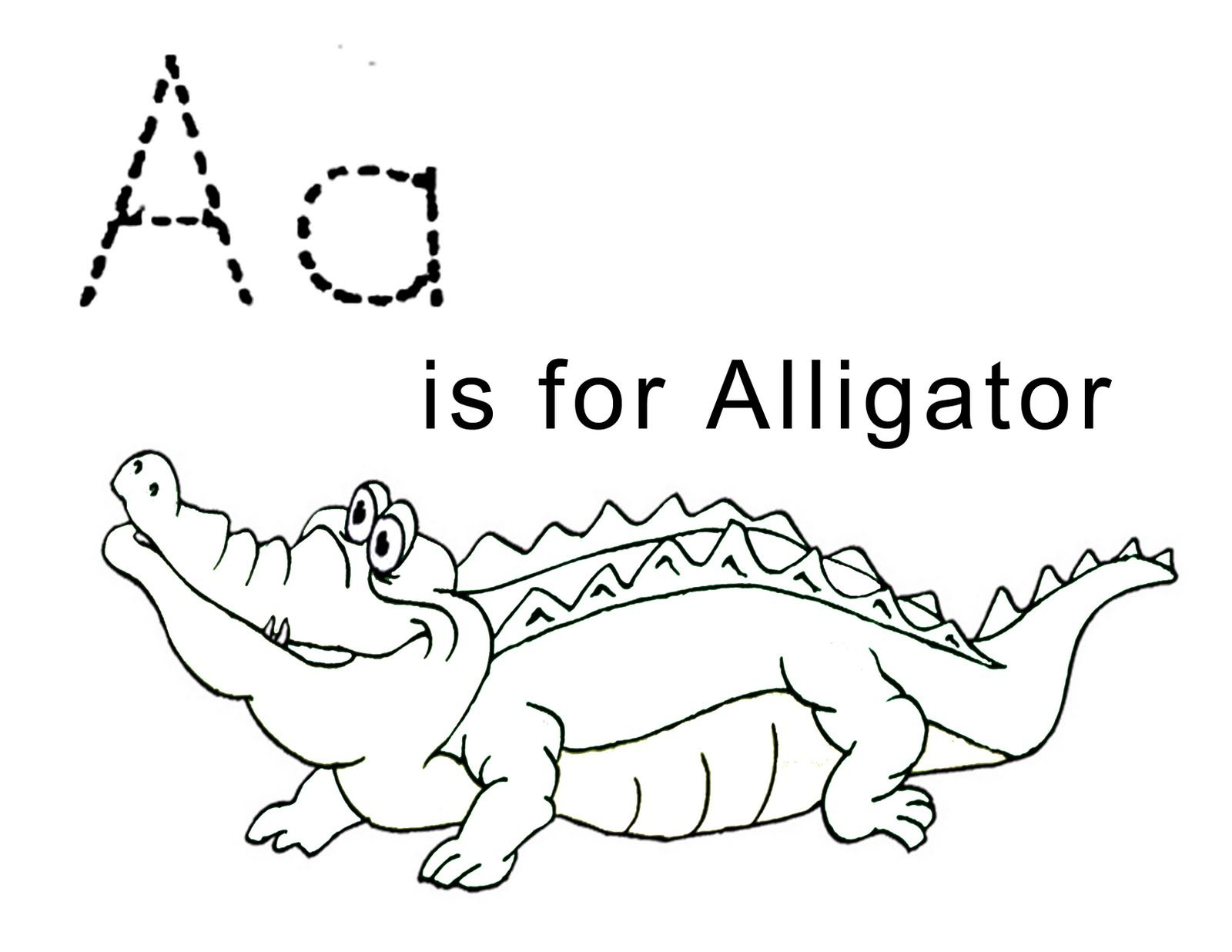 LAWTEEDAH: Letter A- Alligator | Coloring pages for kids ...