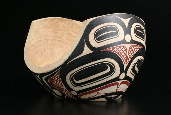 Feast Bowl (painted alder wood) -- by Tsimshian artist David Boxley