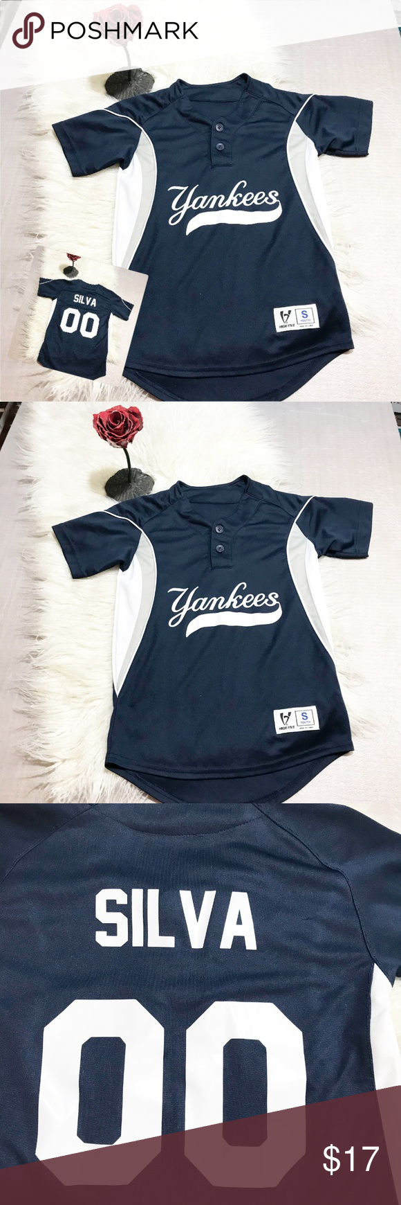 High Five Yankees Silva 00 Baseball Jersey Clothes Design Fashion Fashion Tips