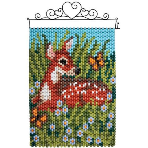 REINDEER SWIRLS PONY BEAD BANNER PDF PATTERN ONLY