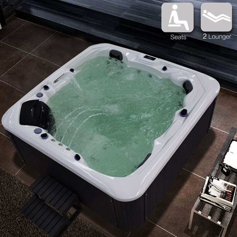 2230mm WHITE Hot Tub Tubs Whirlpool Bath Shower massage Bathtub ...