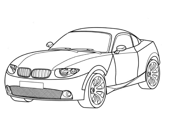 Bmw X Coupe Coloring Page