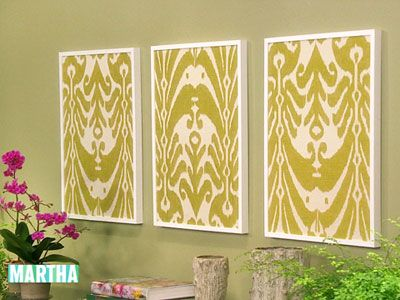 Framed Fabric | Framed fabric, Fabrics and Martha stewart