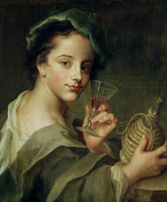 Mercier, Philippe (French, 1689-1760) Woman with a Glass of Wine