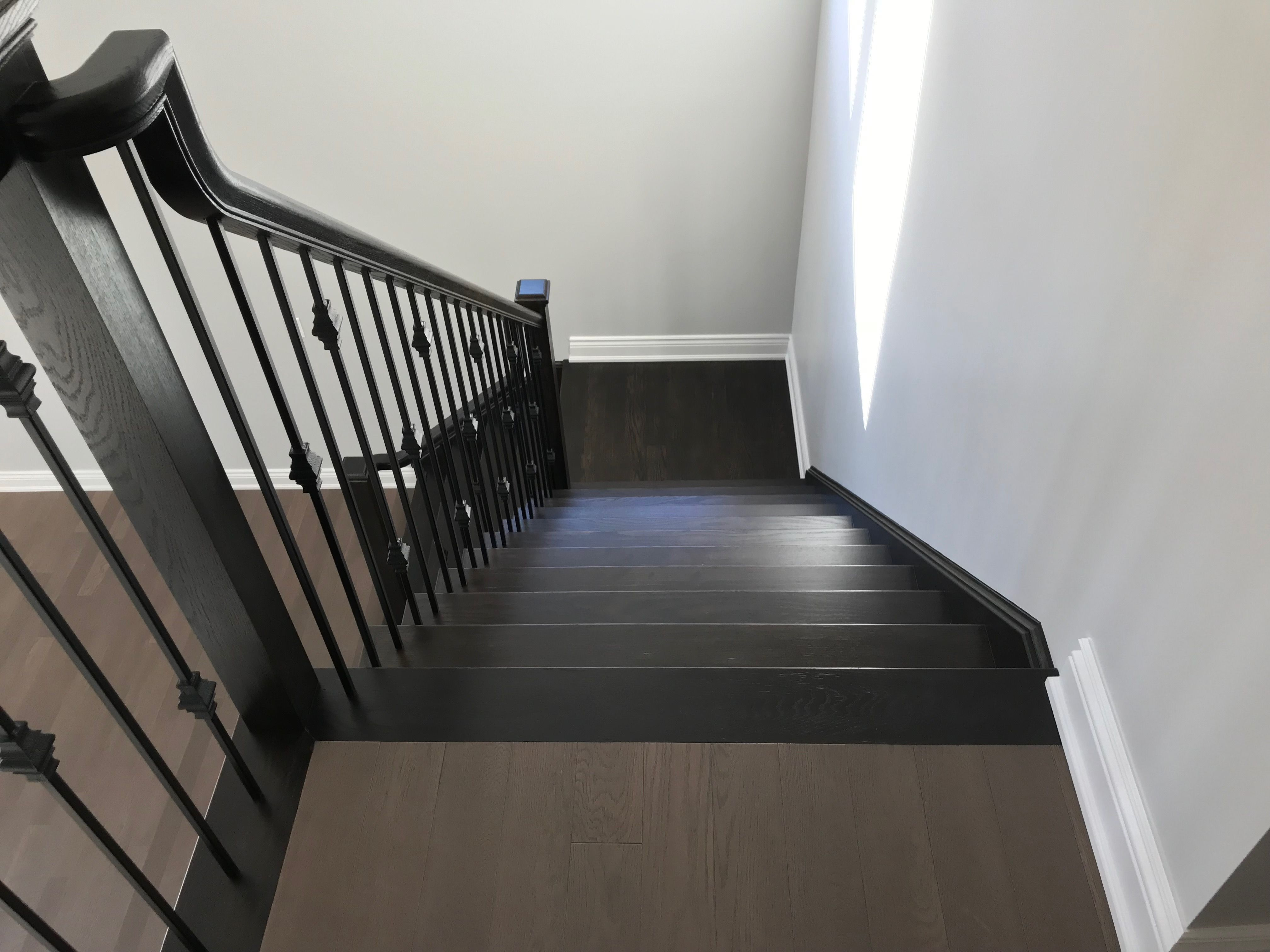 Accent coloured stairs are becoming more and more popular.