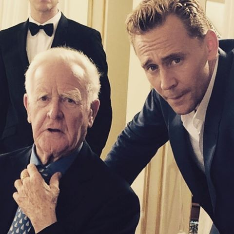 #TheNightManager marathon starts on @amc_tv tonight at 8:00pm. Here's a picture with the master, John le Carré.