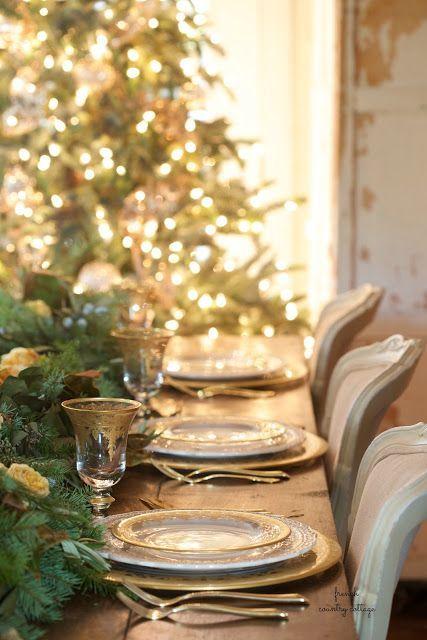 On The Table~ Natale Christmas table setting   Natale Xmas and French country christmas & On The Table~ Natale Christmas table setting   Natale Xmas and ...