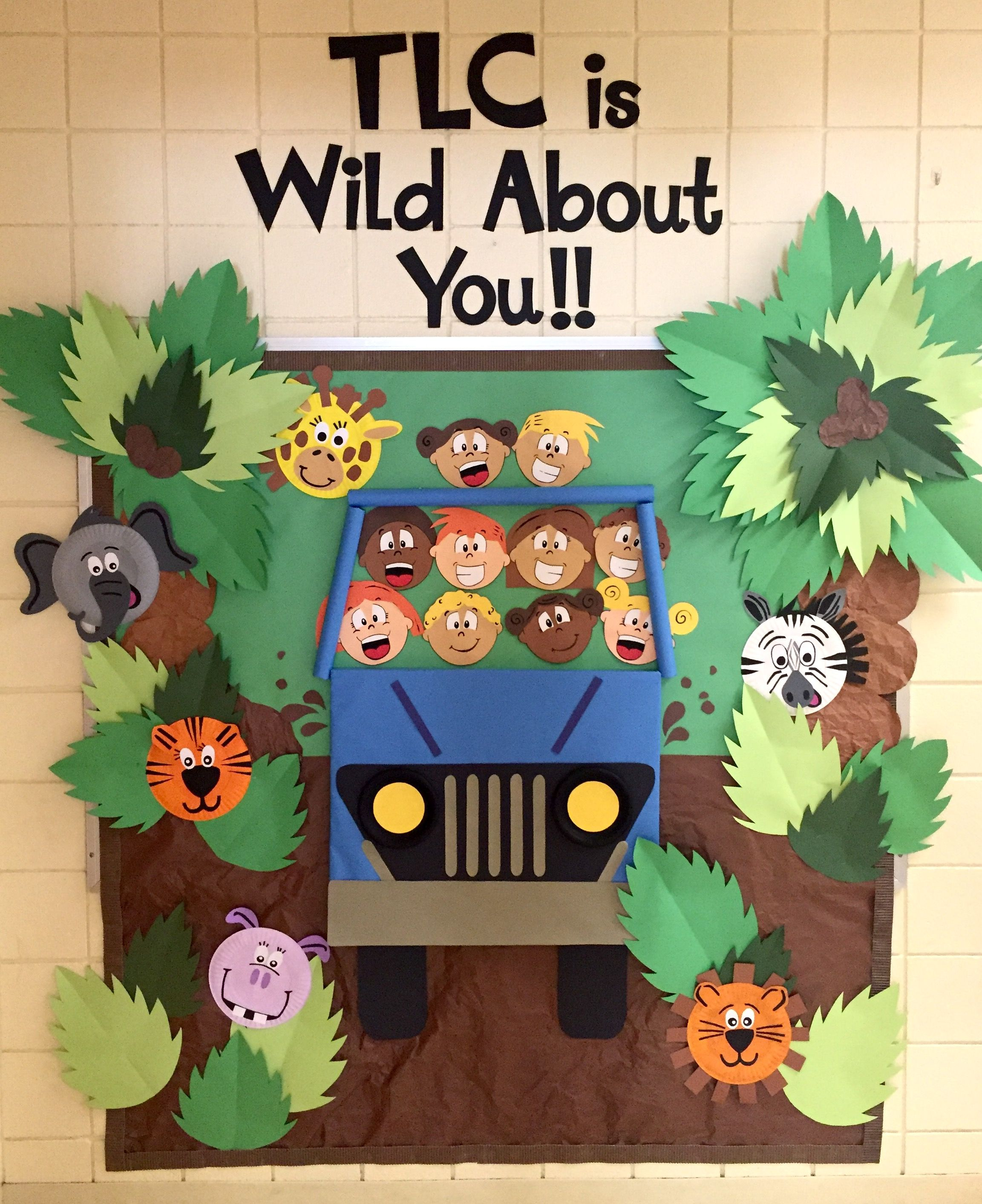 Back To School Bulletin Board Animal Jungle Theme