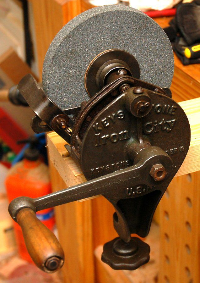 Hand Cranked Grinder Reassembly And Use Antique Hand Tools Woodworking Hand Tools Antique Tools