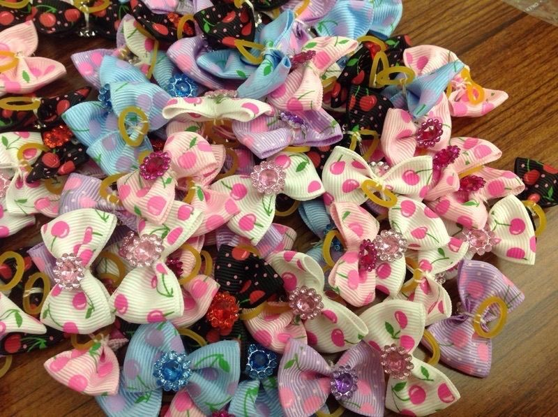 50PCS/LOT Handmade Designer Pet Dog Accessories Grooming Hair Bows For Dogs #Unbranded