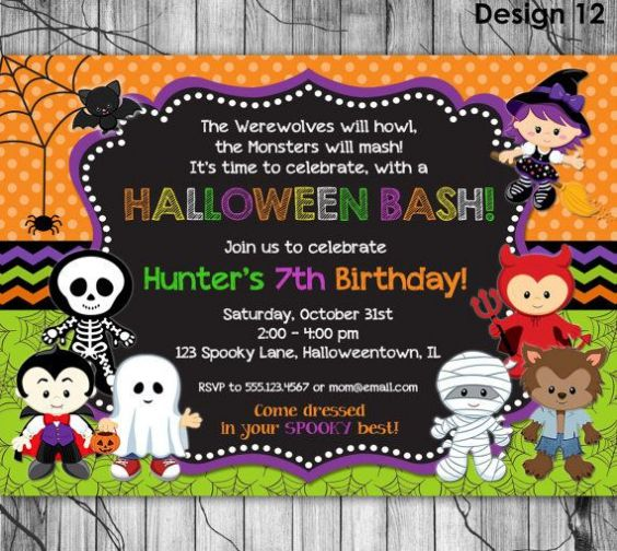 Halloween Birthday Party Invitations For Your Inspiration In Making