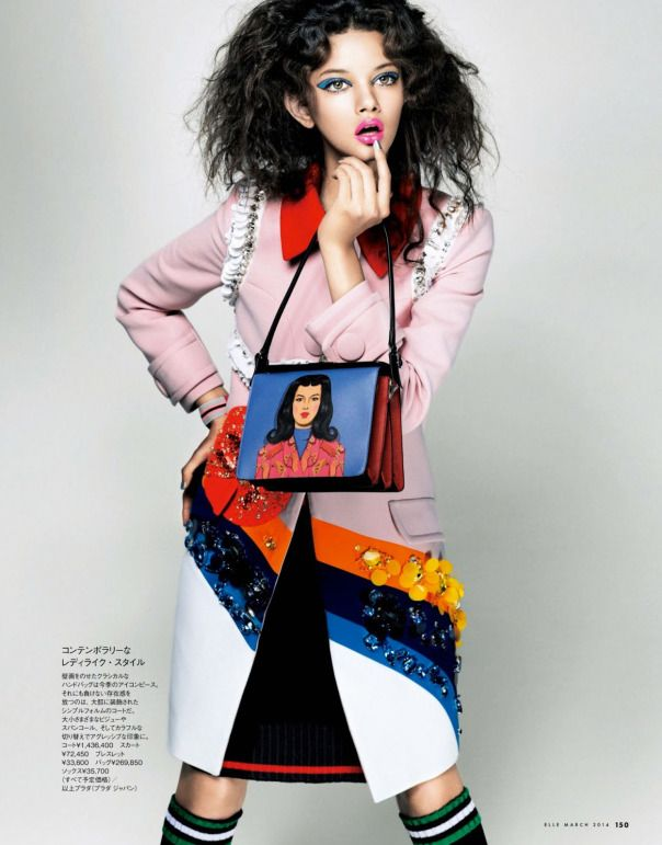 Elle Japan March 2014 | Marina Nery | Takaki Kumada