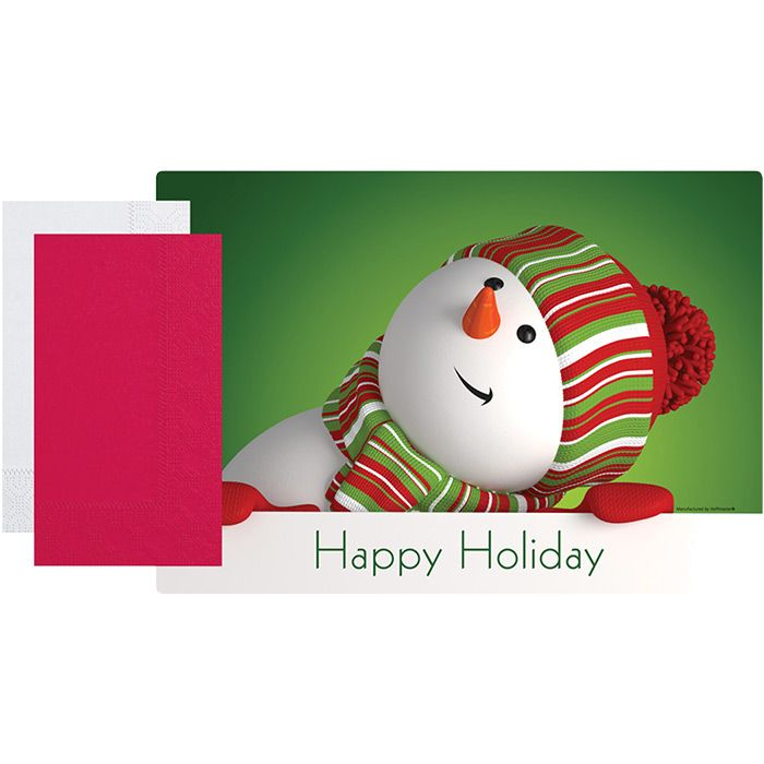 Wholesale Snowman Combo Packs 500 Ct Napkins Com Placemats Kids Placemats Hotel Decor