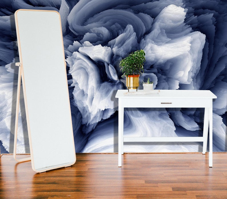 Removable Wallpaper Mural Peel & Stick Watercolor Abstract