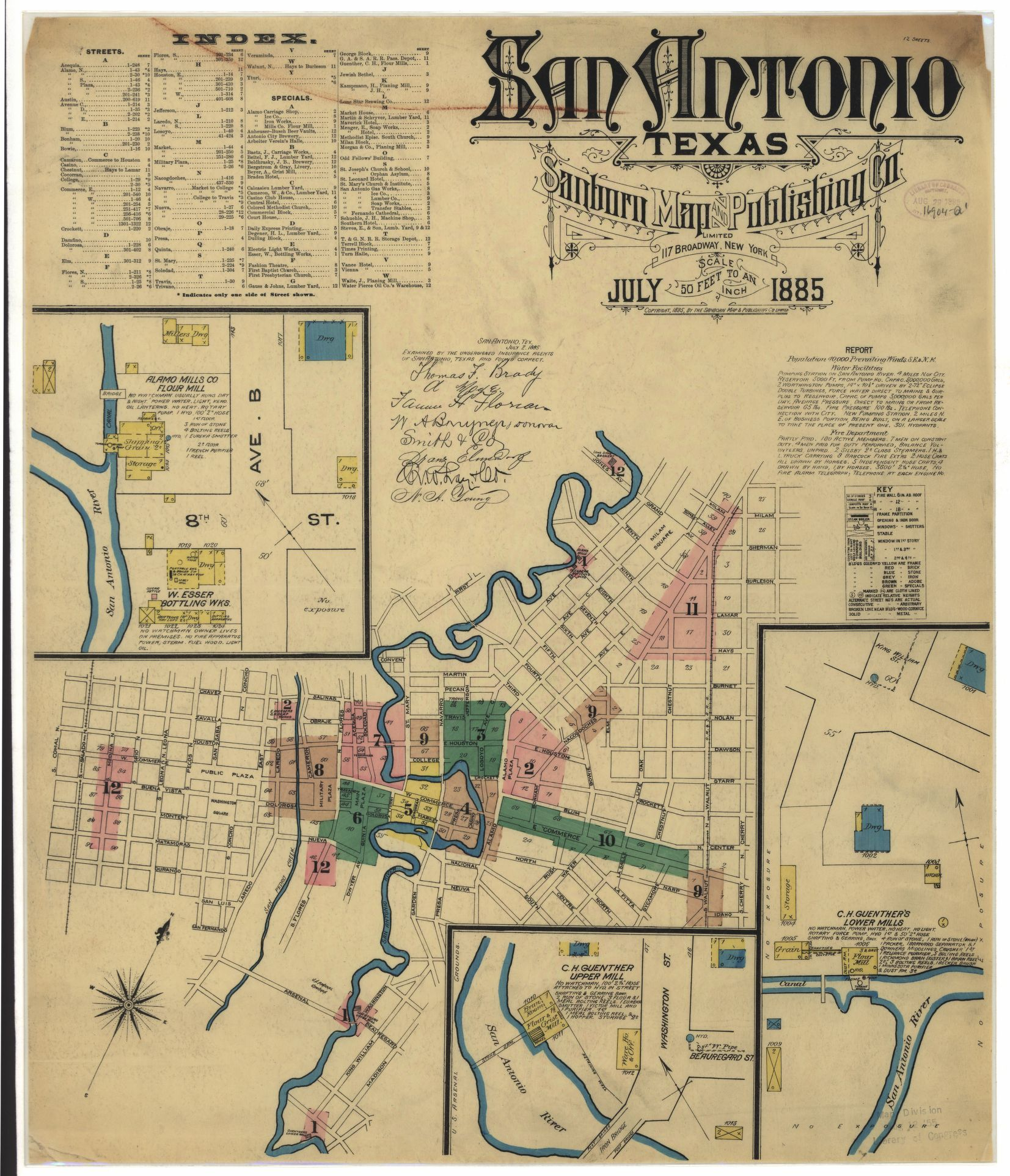 Sanborn Fire Insurance Map From San Antonio Bexar County Texas