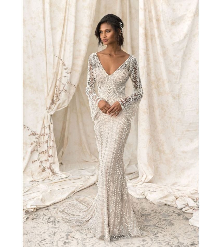 Vintage style wedding dress with sleeves (With images