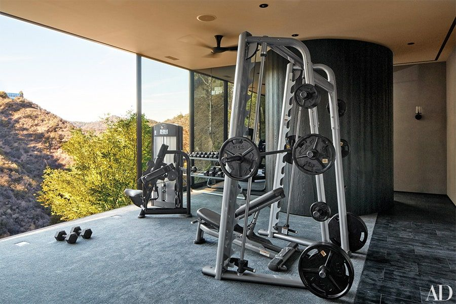 Tour Director Michael Bay S House In California Architectural Digest At Home Gym Home Gym Design Best Home Gym