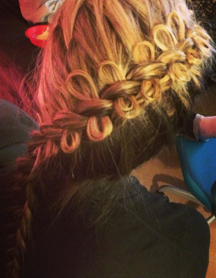 I did this cghdiagonalbowbraid hair styles pinterest hair