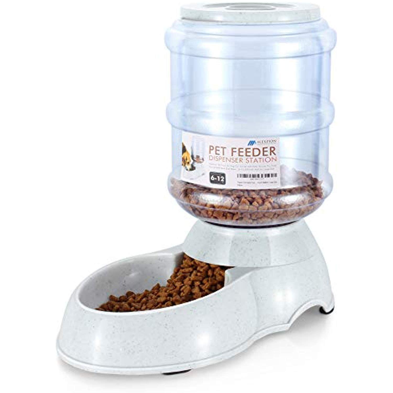 Flexzion food dispenser station self replenish pet feeder