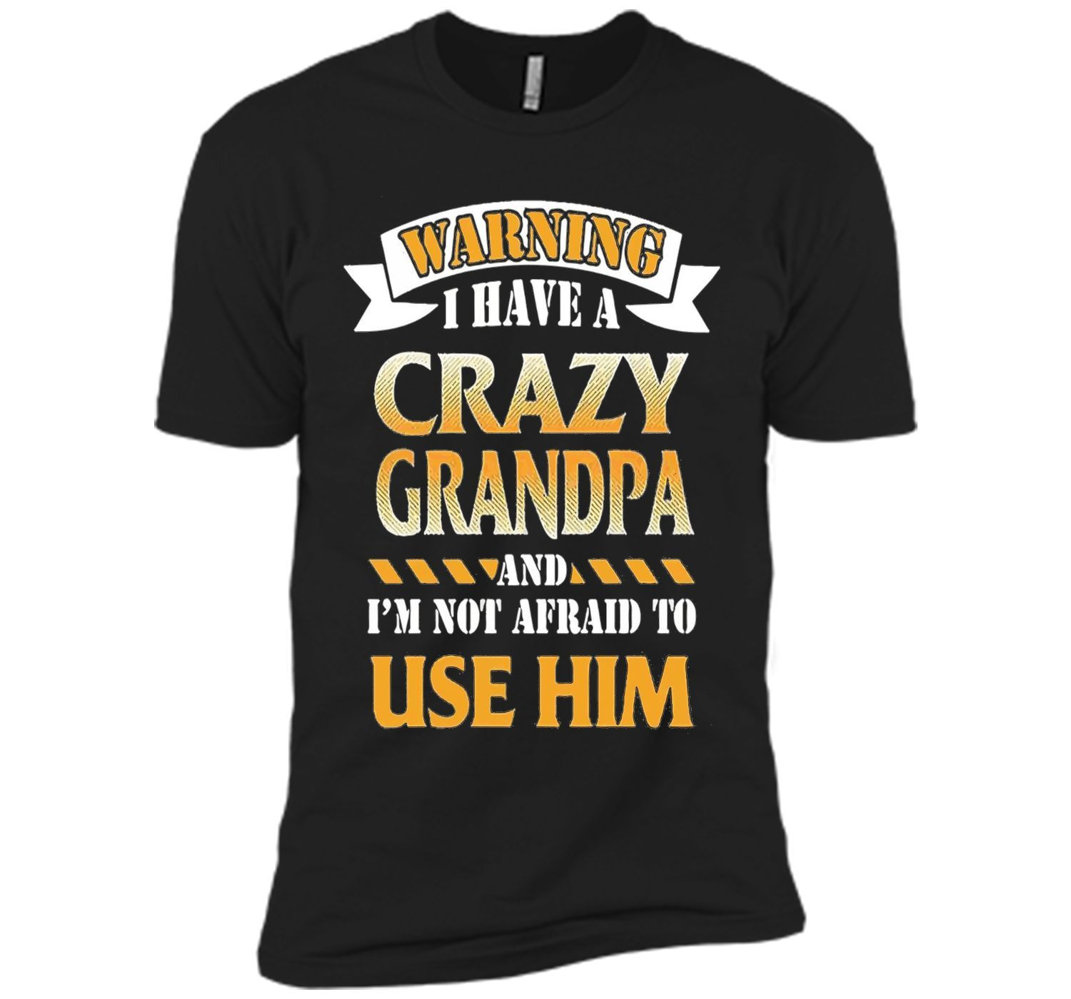 9cbf83f3 Warning I have a crazy Grandpa T-shirt, Funny Gift for Kids ...