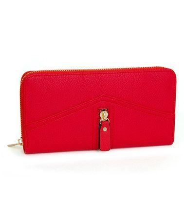 Red Zipper Wallet By Rebecca Rifka