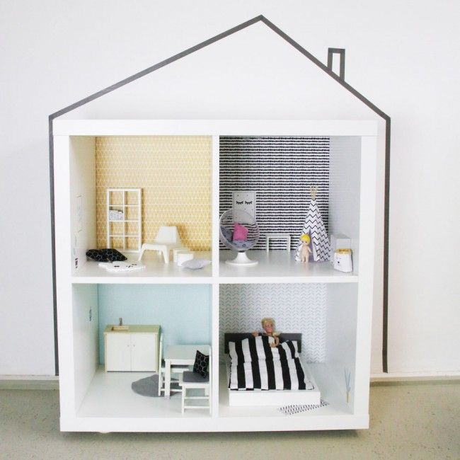 wandfolie lille stuba ikea puppenhaus kallax regal senf mint 1 kinderzimmer 2 0 pinterest. Black Bedroom Furniture Sets. Home Design Ideas