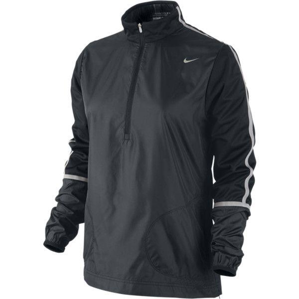 Nike Windproof Half Zip Women S Golf Jacket Black Xs 65 Liked On Polyvore Nike Women Golf Jackets Golf Outfit