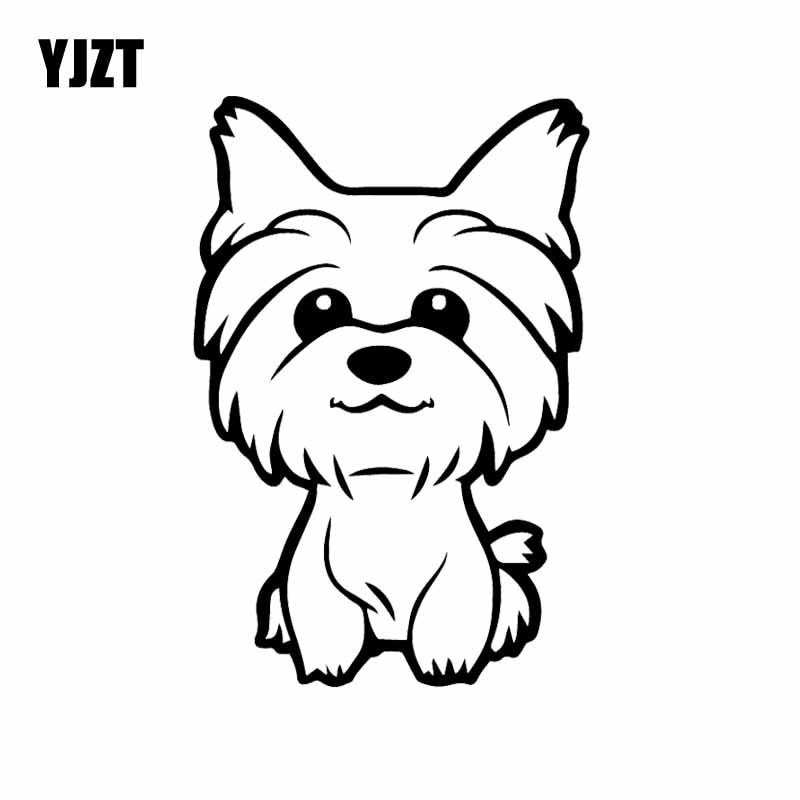 036 12 79hooray Free Shipping Yjzt 10 8x16cm Yorkie Yorkshire Terrier Doggy Decal Cute Fun Dog Car Wind In 2020 Puppy Coloring Pages Dog Drawing Dog Coloring Page
