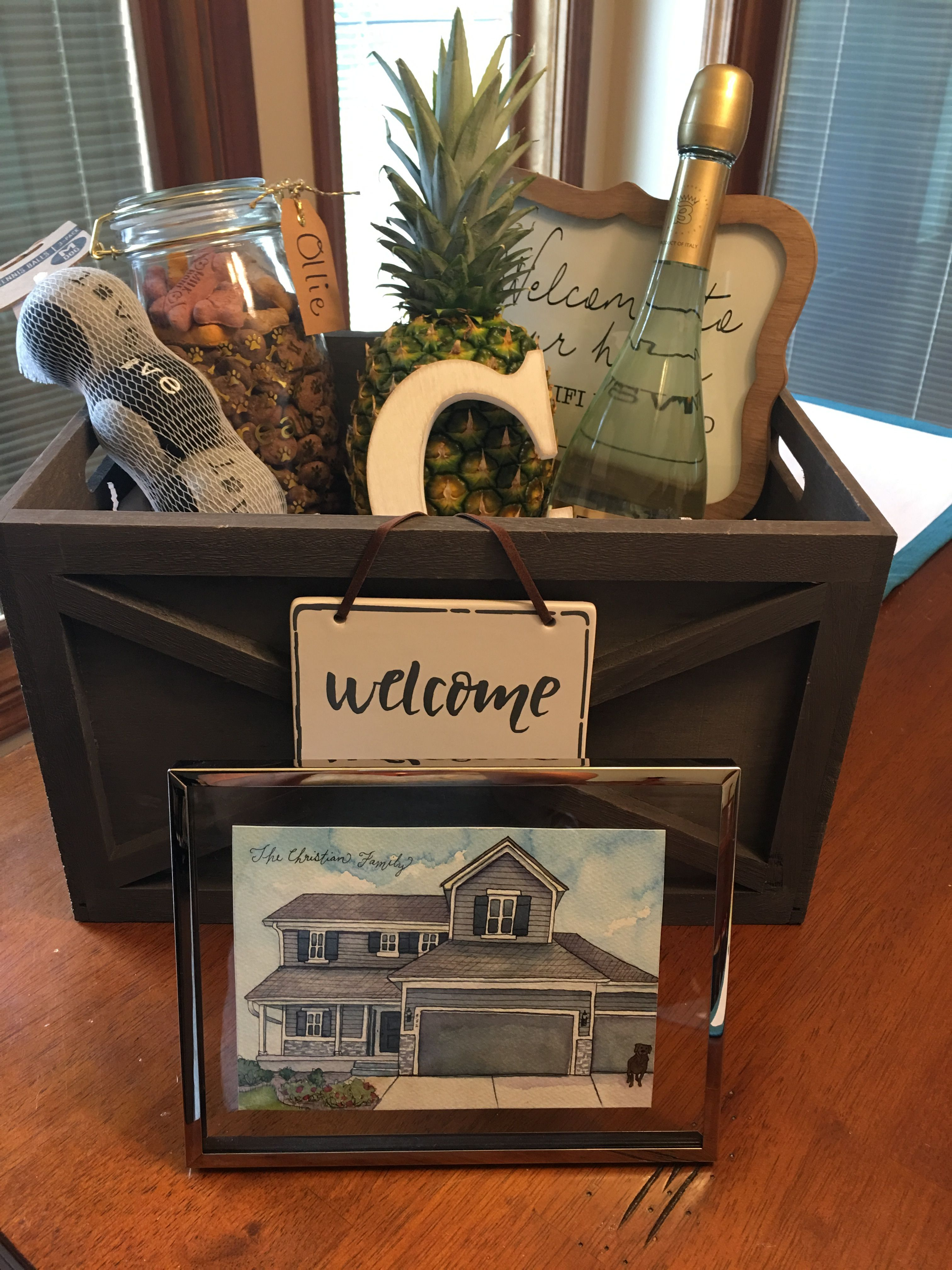 Closing Gift For My Buyers On Their New Home And A Little Something For Their Lab Ollie Www Les Real Estate Closing Gifts Real Estate Client Gifts House Gifts